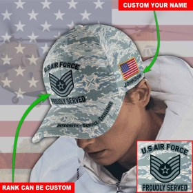 Custom Name And Rank US Air Force Cap M11 All Over Printed(6888)