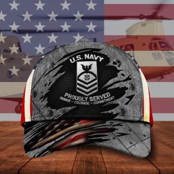 Us Navy Military Cap, Veteran Cap, Custom Hat All Over Printed