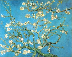 Van Gogh; Almond Blossoms. 1890. Scans of 2 d images in the public domain believed to be free to use without restriction in the US.