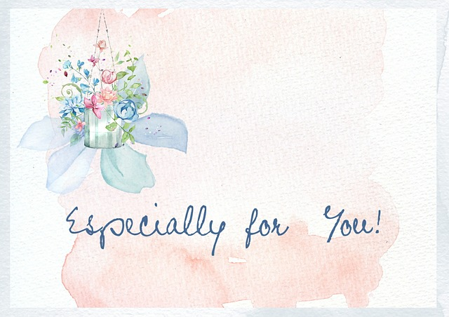 Especially for you logo on watercolor painting