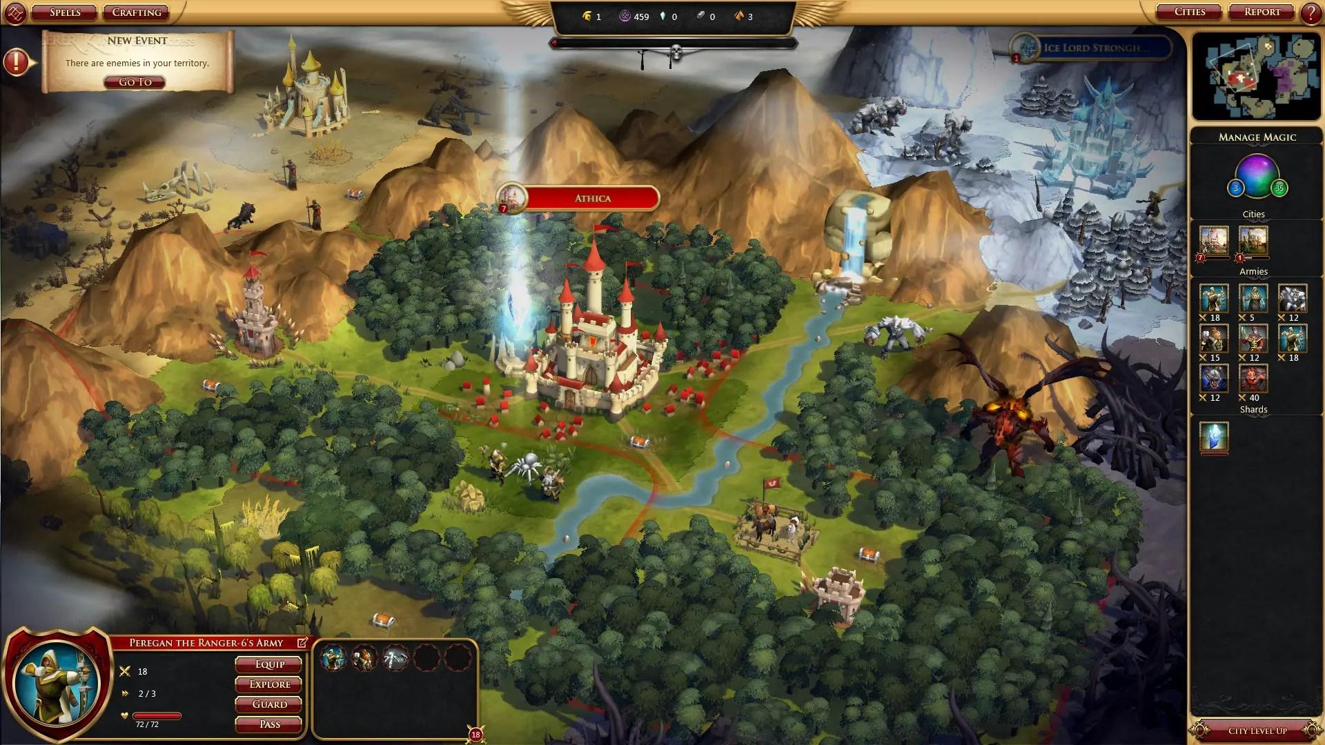 Fantasy 4X Strategy Game Sorcerer King Enters Full Release