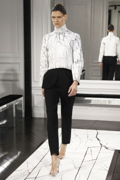 Fall 2013 Wang's debut collection reflected his love of marble