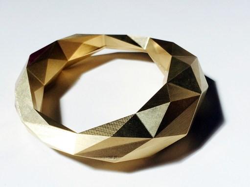 Hideaki Matsui biometric brass bracelet