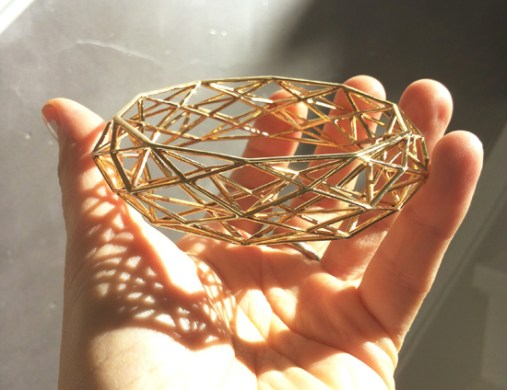 Designer Will du Toit 3-D printed Brass bracelet
