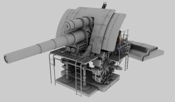 'Big Bertha' cannon 3D model