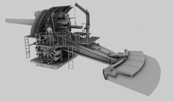 'Big Bertha' cannon 3D model