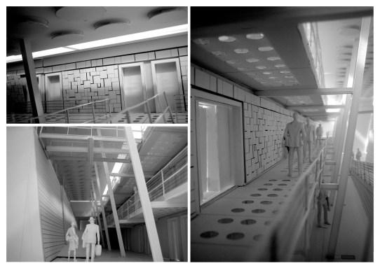 Interior Eco Hotel - Physical model