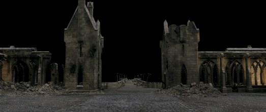 Courtyard Gatehouses - damaged set. Image from Double Negative.