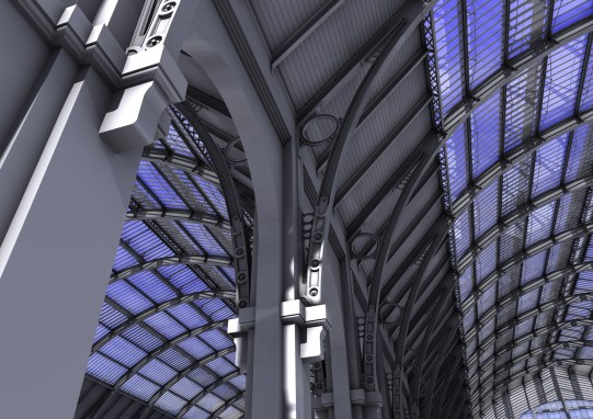 Interiror Kings Cross Station 3D model