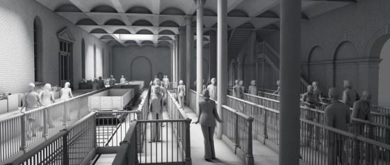 KX Interior - lower level. Model by Artist Kim Frederiksen