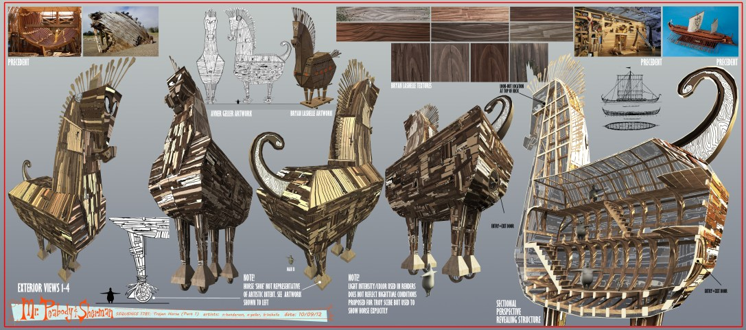 Trojan Horse Art Set. Concepted by Artists Bryan Lashelle & Avner Geller
