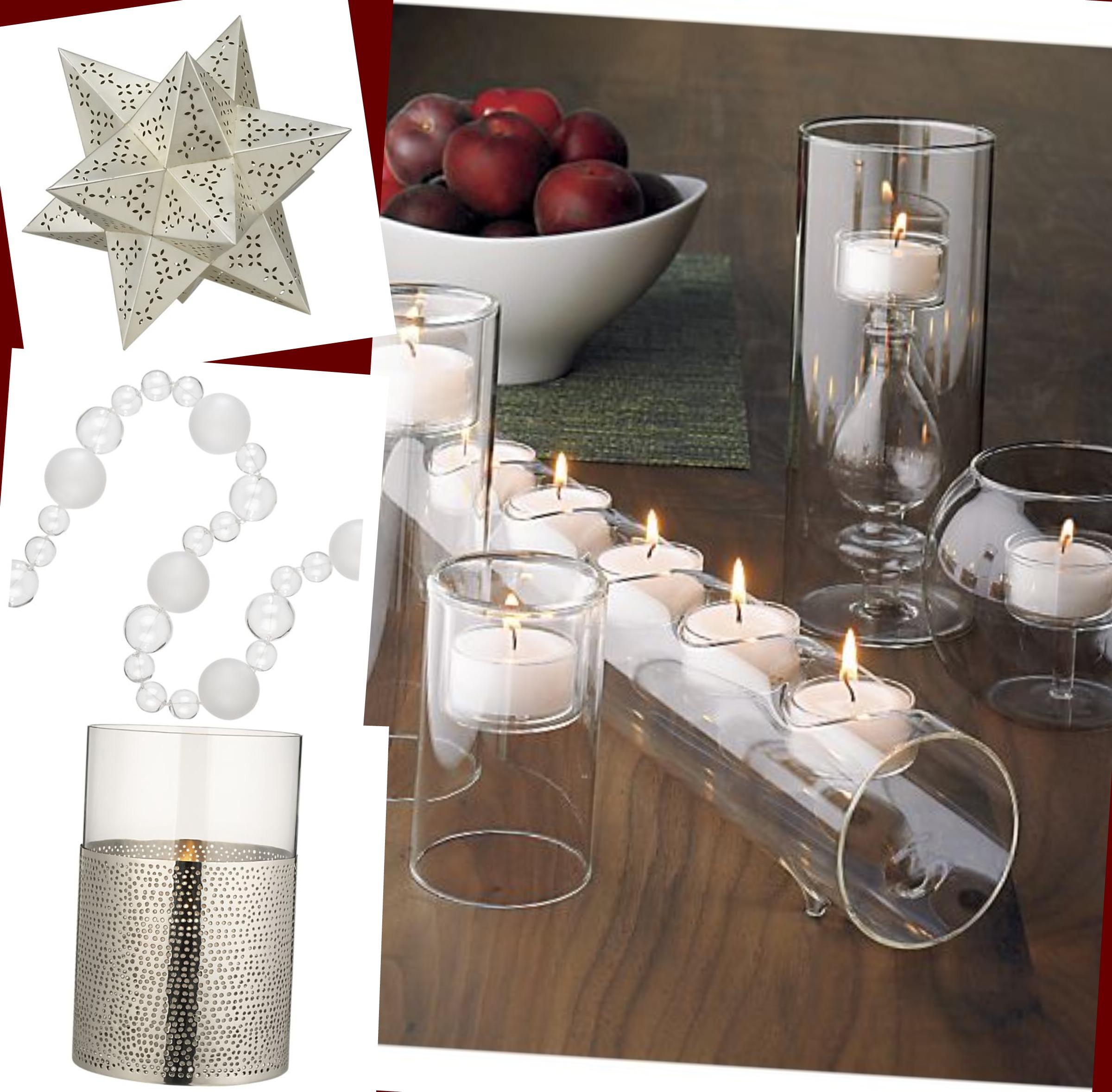 Silver Candlelit Modern Mantelscape
