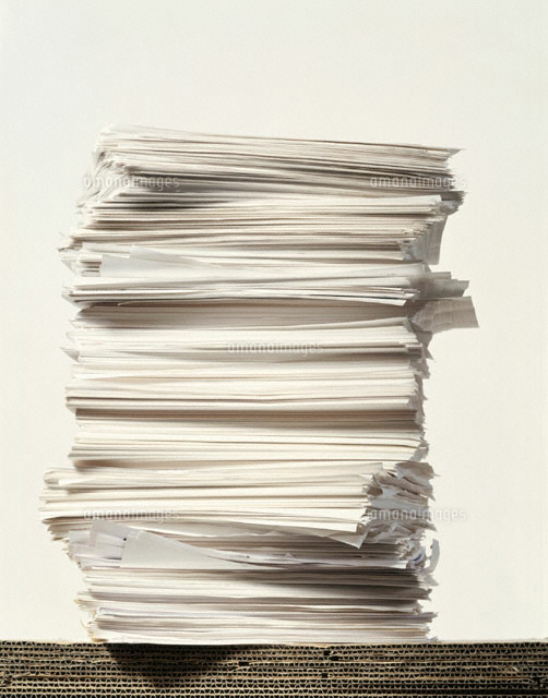 無印良品の収納ボックスとセリアのプレートシールで書類の整理