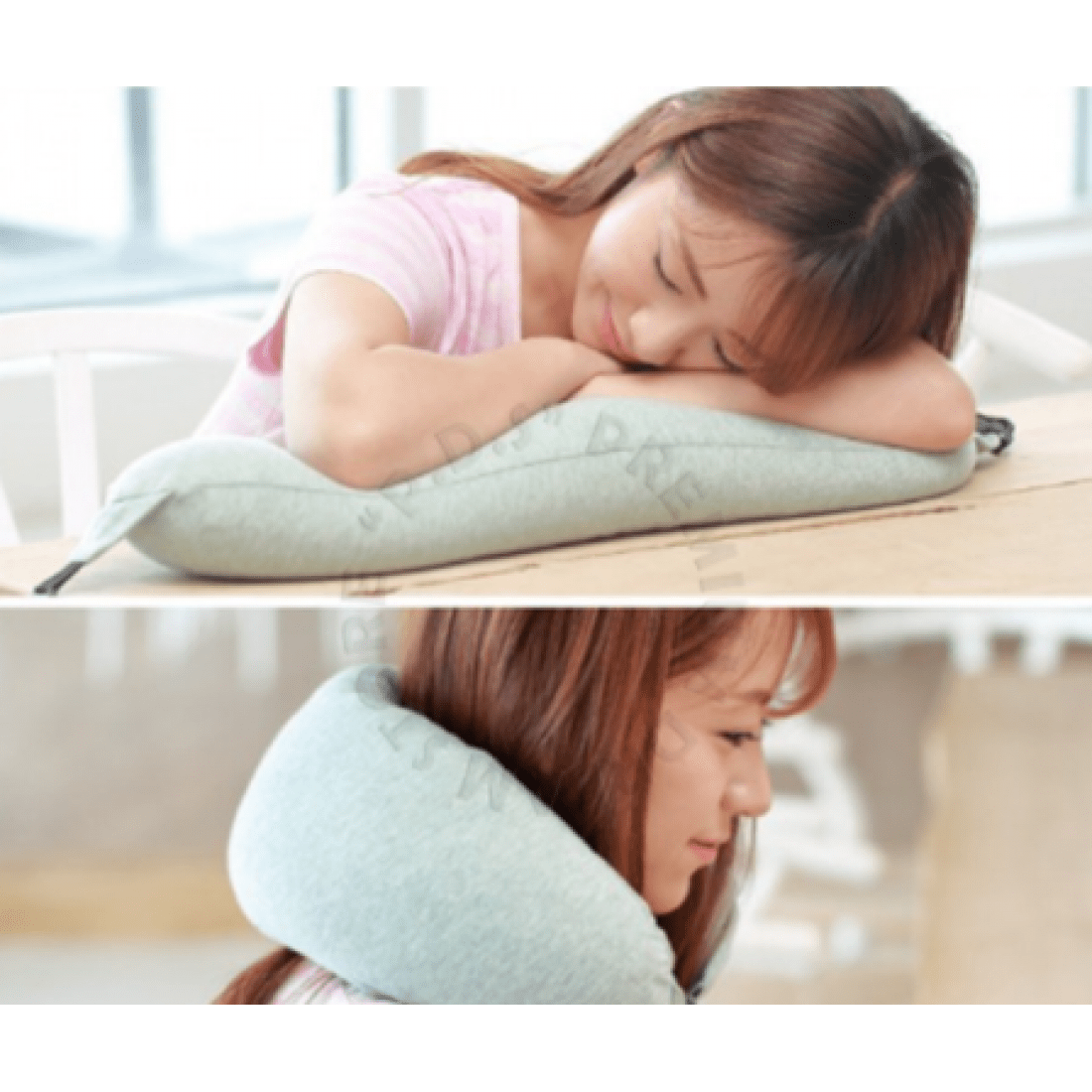 ready stock comfortable micro bean adjustable neck pillow with removable washable pillow cover