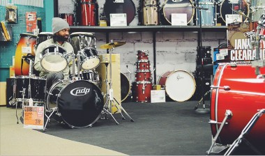 Mini drum clinic at Guitar Center