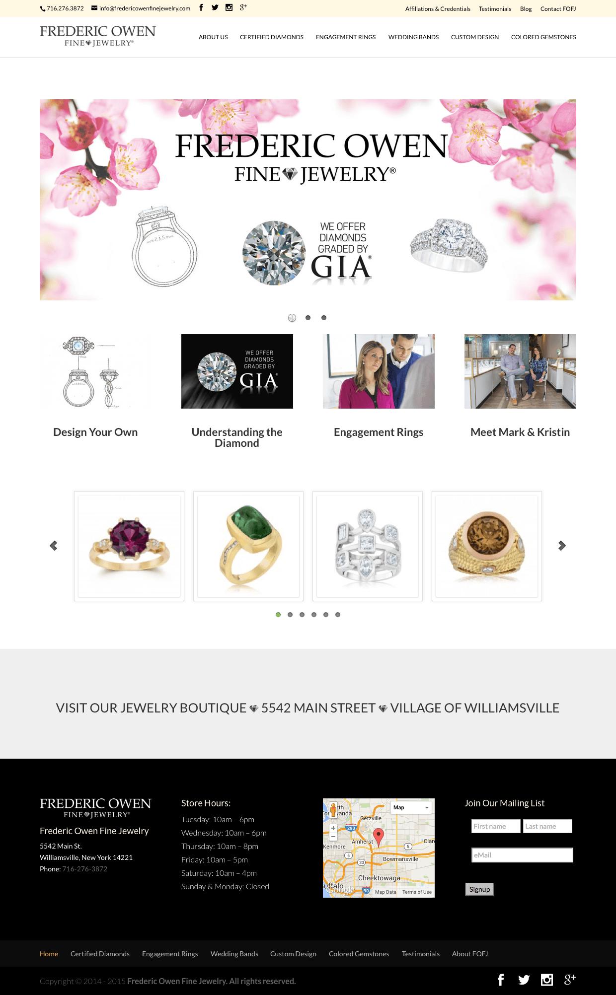 Frederic Owen – Custom Jewelry Store