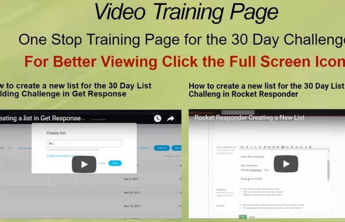 Video Training Page