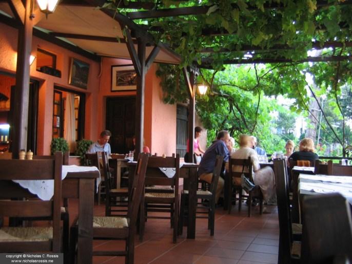 Taverna at Pilio, Greece