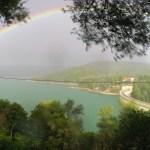 Rainbow over Marathon Lake, Greece