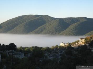 Morning fog over Zagoria, Greece