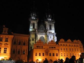 Staromestske nam. at night, Prague, Czech Republic