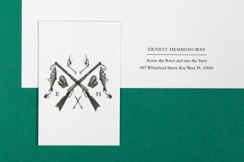 Ernest Hemmingway stationery, by uk.moo.com