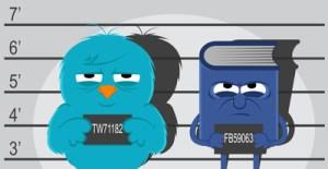 Twitter-vs-Facebook, Photo: articlemarketingco.com