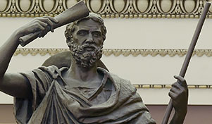 Herodotus, Father of History, shown here smacking himself on the head for forgetting to do his wife's shopping