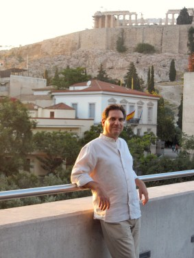 At the Acropolis Museum balcony