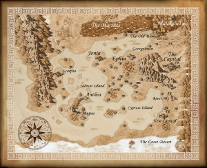 Map of Pearseus | From the blog of Nicholas C. Rossis, author of science fiction, the Pearseus epic fantasy series and children's books