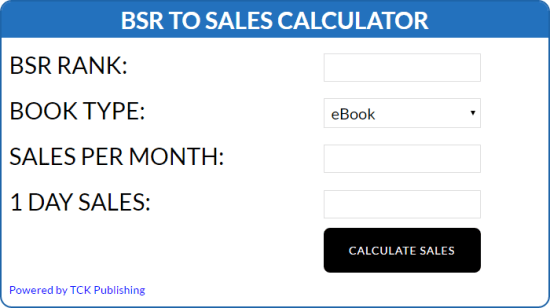 BSR Calculator | From the blog of Nicholas C. Rossis, author of science fiction, the Pearseus epic fantasy series and children's books