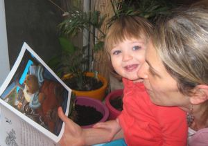 Mary Natalie reading with mommy   From the blog of Nicholas C. Rossis, author of science fiction, the Pearseus epic fantasy series and children's books