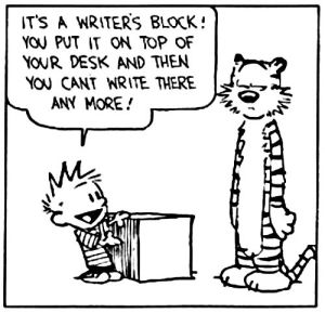 Calvin & Hobbes, writer's block | From the blog of Nicholas C. Rossis, author of science fiction, the Pearseus epic fantasy series and children's books