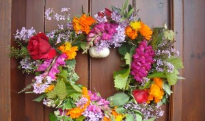 May Day wreath | From the blog of Nicholas C. Rossis, author of science fiction, the Pearseus epic fantasy series and children's books