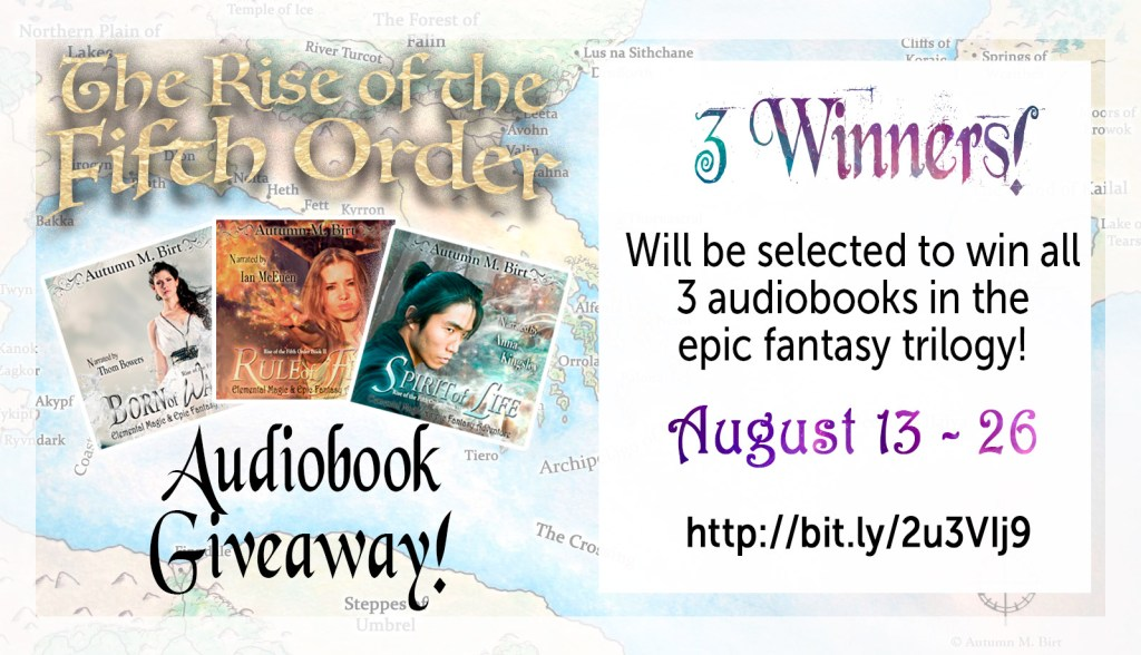 Autumn Birt audiobook giveaway | From the blog of Nicholas C. Rossis, author of science fiction, the Pearseus epic fantasy series and children's books