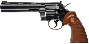 Colt Python revolver | From the blog of Nicholas C. Rossis, author of science fiction, the Pearseus epic fantasy series and children's books