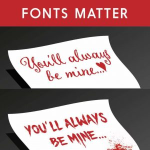 Fonts matter   From the blog of Nicholas C. Rossis, author of science fiction, the Pearseus epic fantasy series and children's books