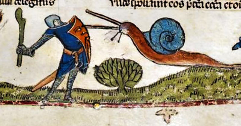 Medieval knights and snails | From the blog of Nicholas C. Rossis, author of science fiction, the Pearseus epic fantasy series and children's books