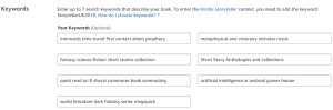 Amazon keyword organizer | From the blog of Nicholas C. Rossis, author of science fiction, the Pearseus epic fantasy series and children's book
