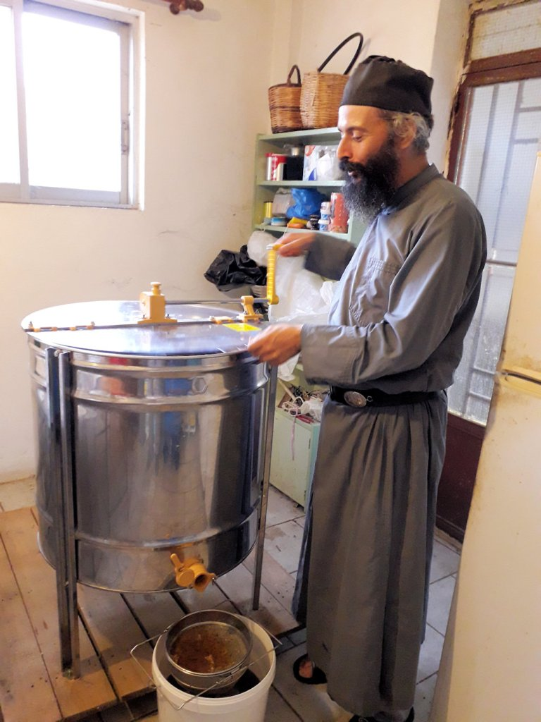 Monk making honey   From the blog of Nicholas C. Rossis, author of science fiction, the Pearseus epic fantasy series and children's book