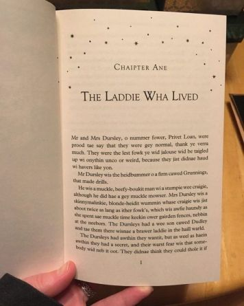 Harry Potter, Scots edition   From the blog of Nicholas C. Rossis, author of science fiction, the Pearseus epic fantasy series and children's book