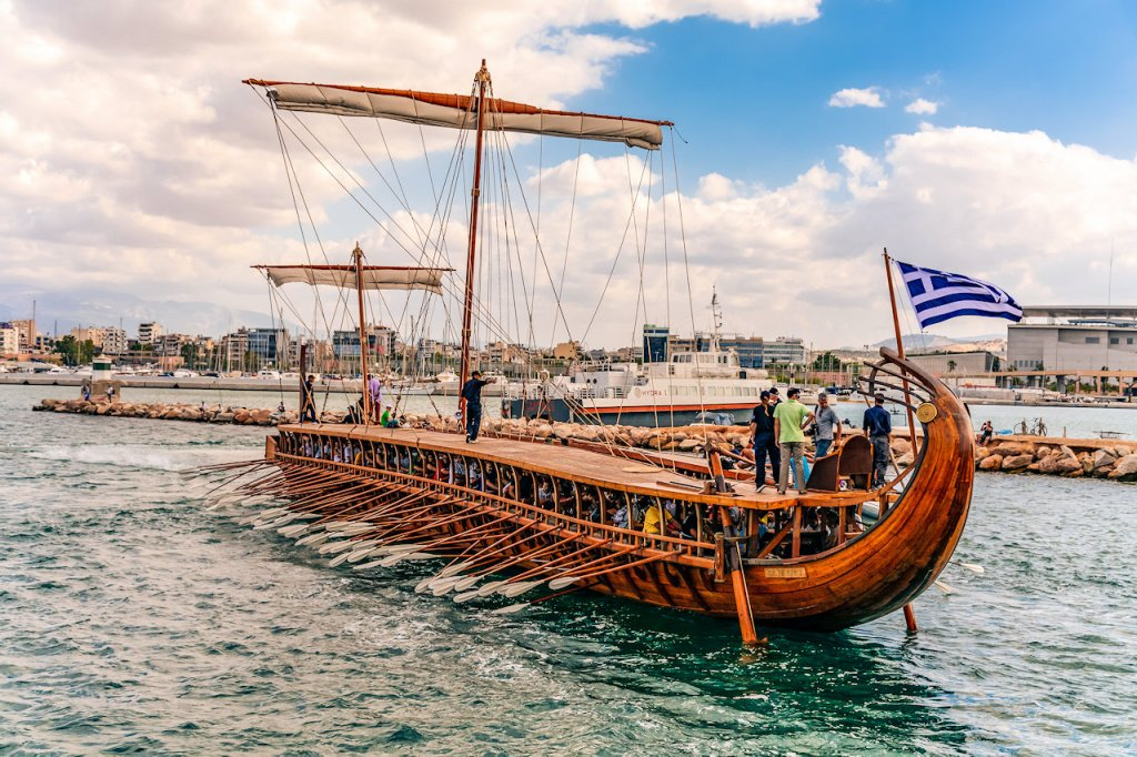 The trireme Olympias | From the blog of Nicholas C. Rossis, author of science fiction, the Pearseus epic fantasy series and children's book