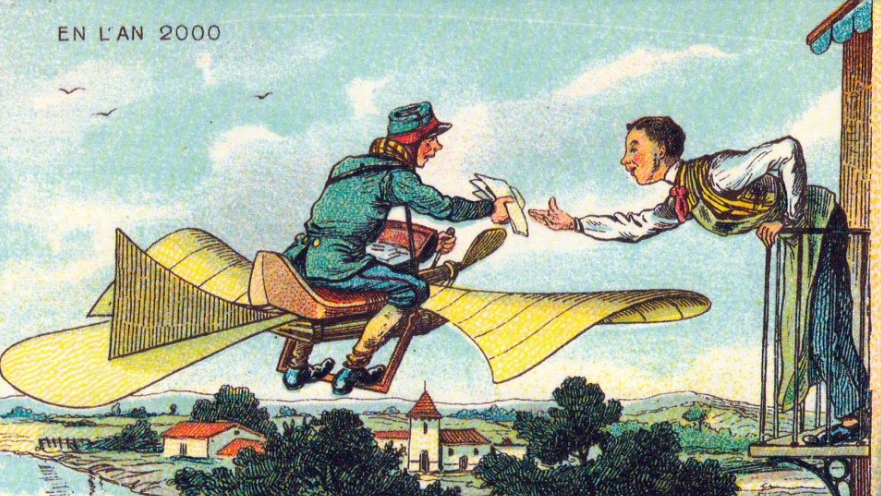 1882 postcard flight above Paris | From the blog of Nicholas C. Rossis, author of science fiction, the Pearseus epic fantasy series and children's books
