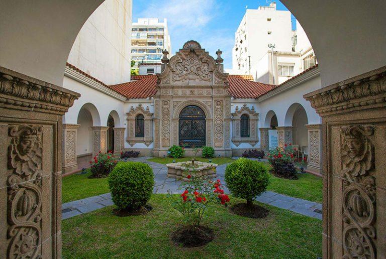 The Ricardo Rojas House Museum courtyard in Recoleta
