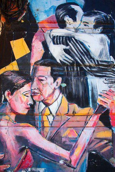 Tango wall art in La Boca