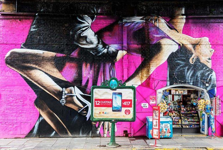 Street art dell'artista Alfredo Segatori a Buenos Aires