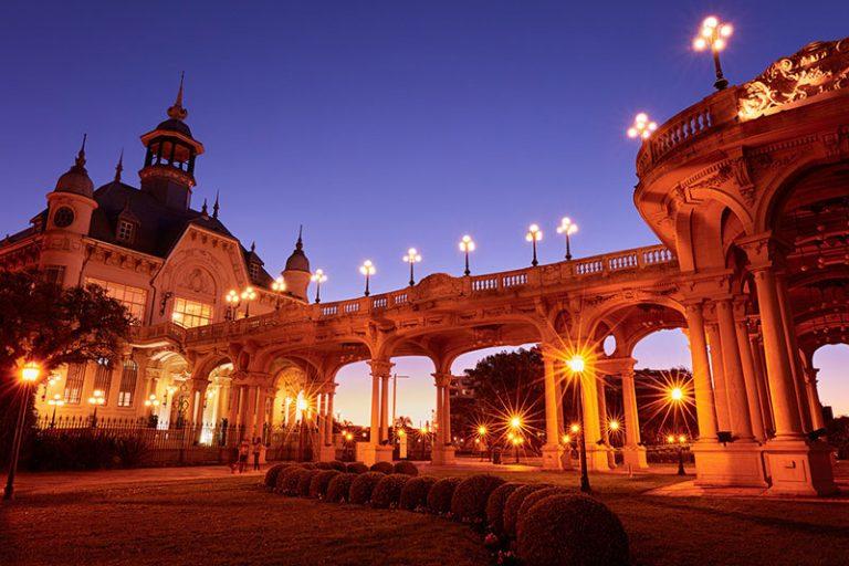 Il Museo di Arte di Tigre al crepuscolo