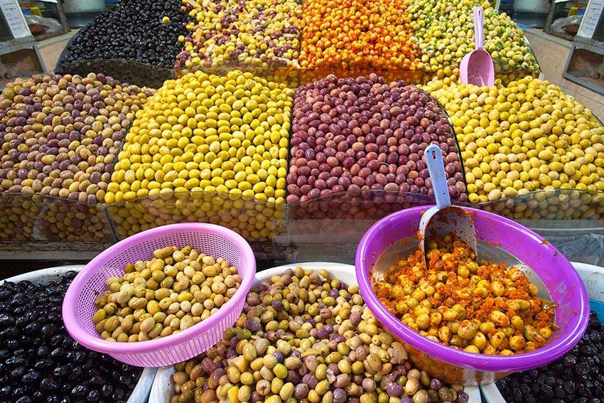 olives in the Meknes Souk