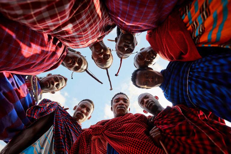 Maasai group portrait in Tanzania