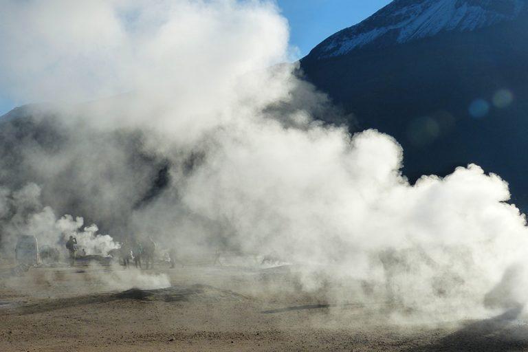 El Tatio geyser in Atacama Chile